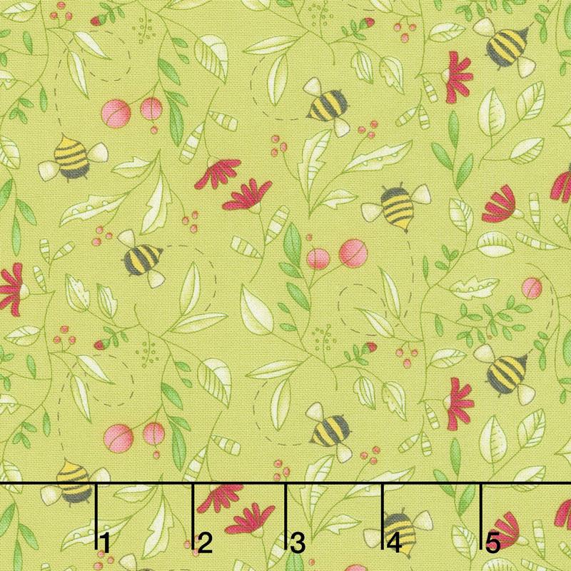 Painted Meadow - Simple Drawings Sprig Yardage