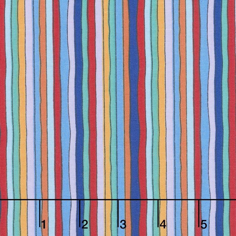 Arctic Wonderland - Stripe Warm Multi Yardage