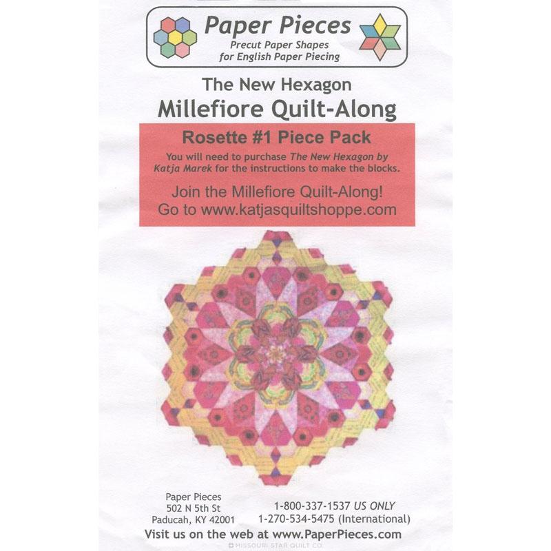 New Hexagon Millefiore Quilt-Along Rosette #1 English Paper Piecing Pack