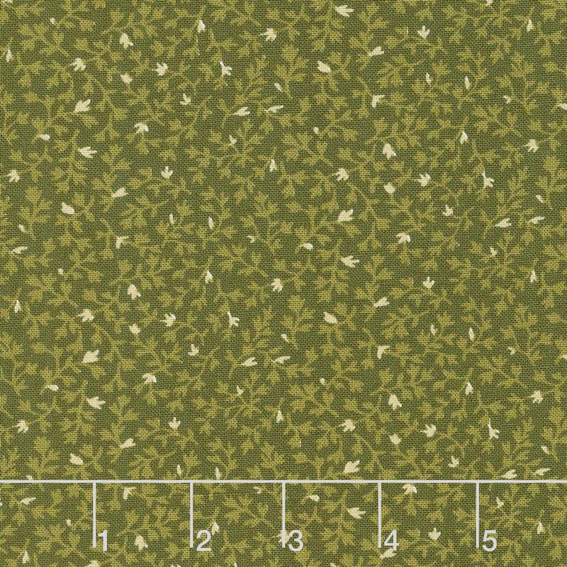 Buttermilk Blossoms - Ivy Mini Green Yardage