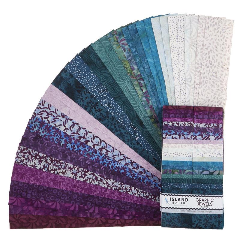 Graphic Jewels Batiks Strips