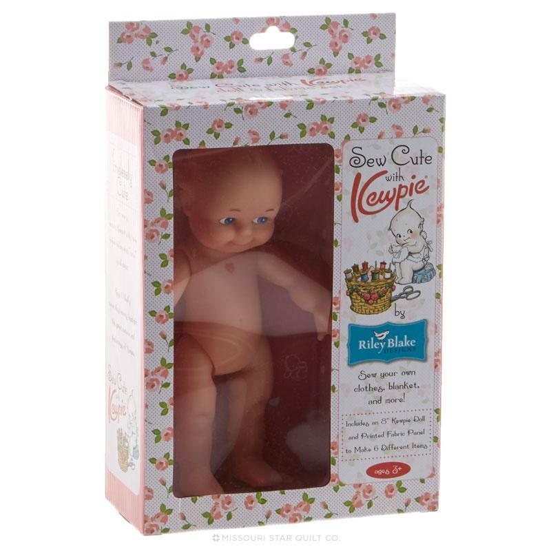 Kewpie Doll and Fabric Set