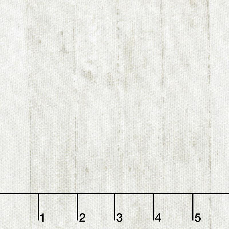 Cardinal Woods - Distressed Wood Planks Cream Yardage