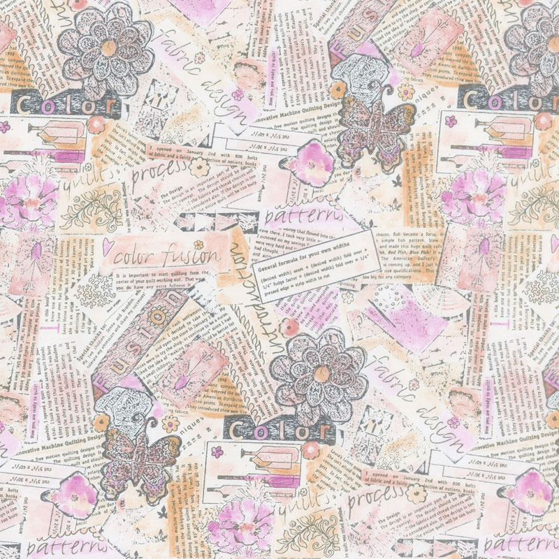 Color Fusion - Collage Pink Yardage
