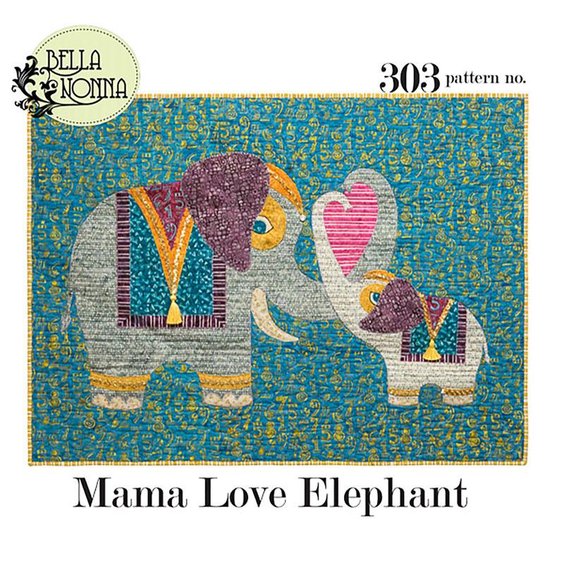 Mama Love Elephant Pattern