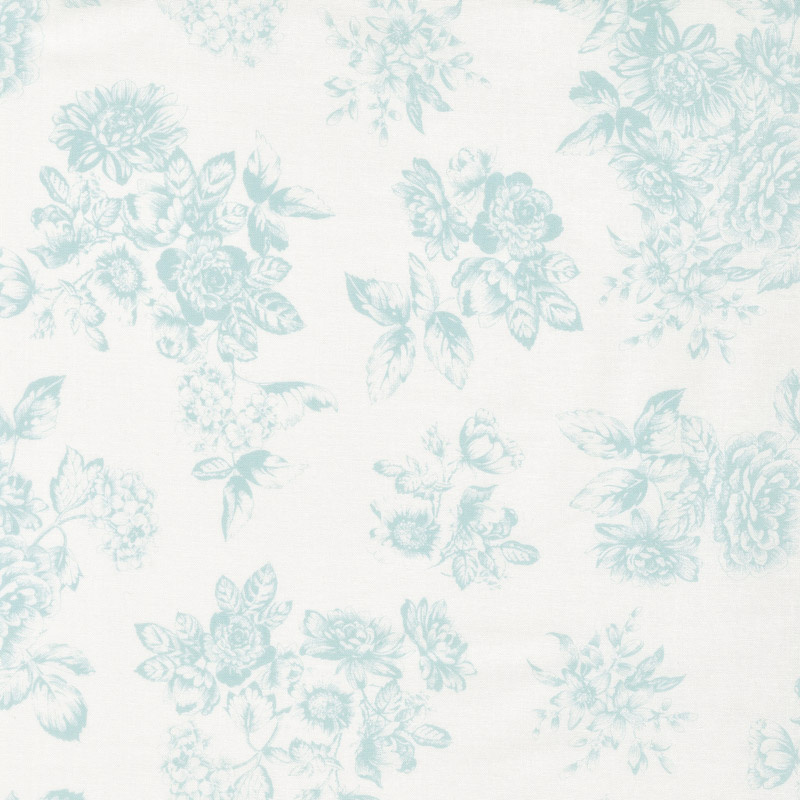Katie Jane - Toile Teal Yardage