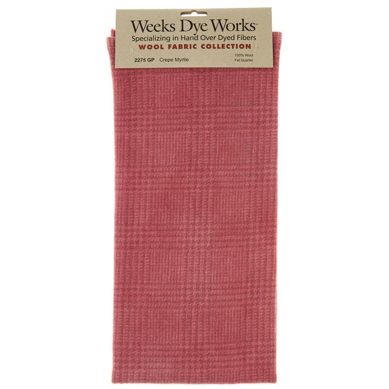 Weeks Dye Works Hand Over Dyed Wool Fat Quarter - Glen Plaid Crepe Myrtle