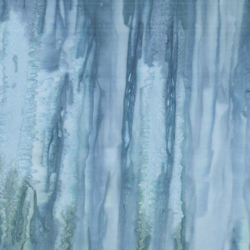 Baker's Dozen Batiks - Stripe Dark Blue Yardage