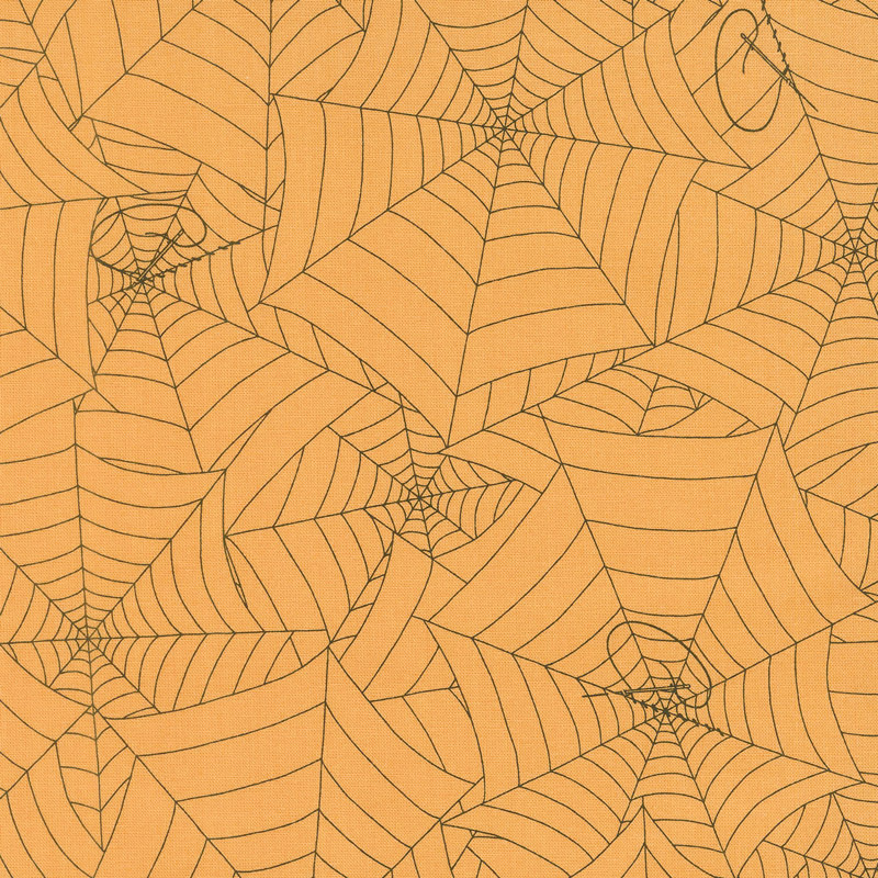 Costume Maker's Ball - Webs Orange Yardage