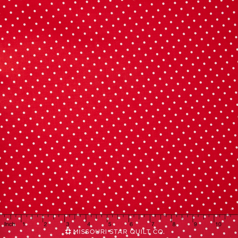 Happy Dots - Pinhead Red Yardage
