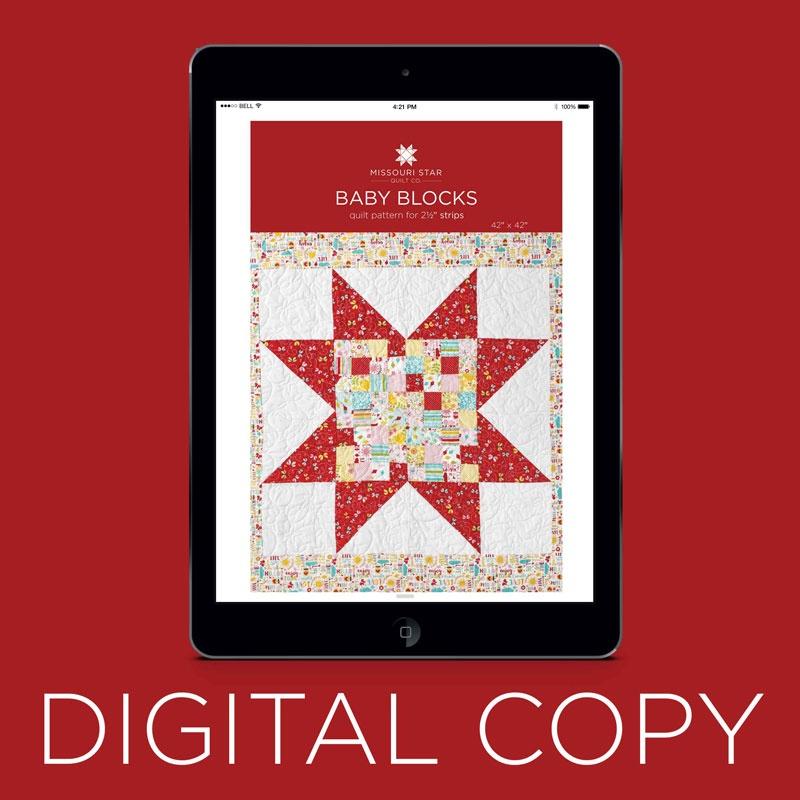 Baby Blocks Quilt Pattern.Digital Download Baby Blocks Quilt Pattern By Missouri Star