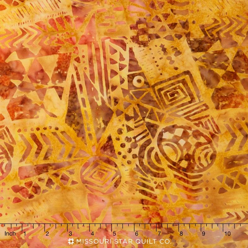Tonga Batiks - Autumn Tribal Cloth Spice Yardage