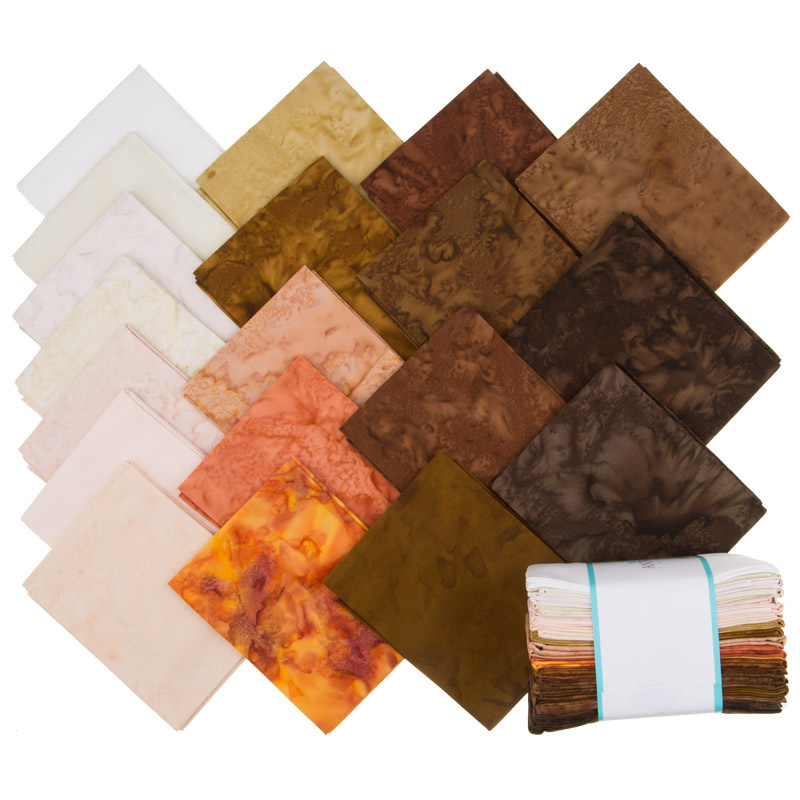 Lava Batik Solids - Earth Fat Quarter Bundle
