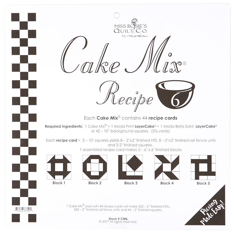 Cake Mix Receipe By Miss Rosie S Quilt