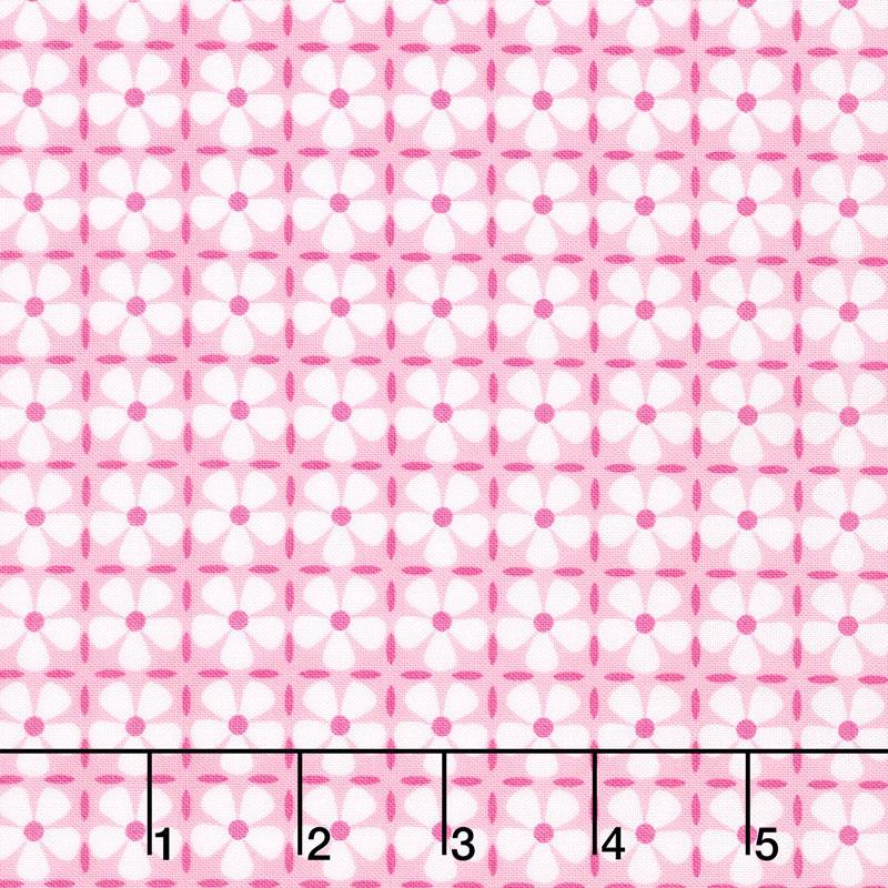 Confetti - Flower Grid Pink Yardage
