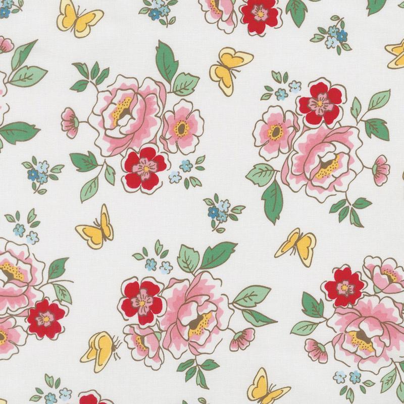 mon beau jardin main cream yardage nadra ridgeway of ellis higgs penny rose designs. Black Bedroom Furniture Sets. Home Design Ideas