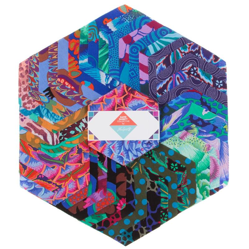 Kaffe Fassett Collective Spring 2018 - Dark Hexagons