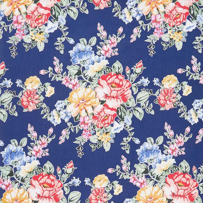 Cherry Lemonade - Large Bouquet Blue Yardage
