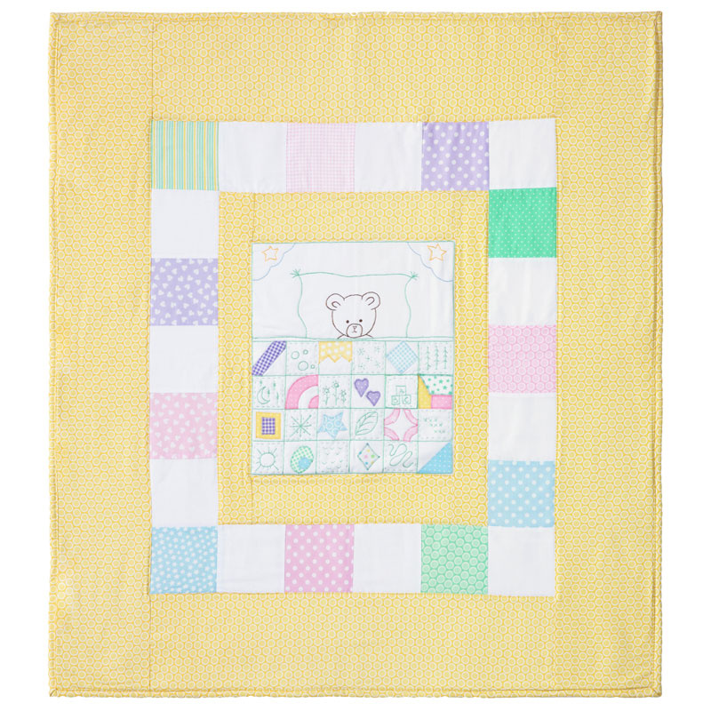 Nap Time Quilt Block Embroidery Kit