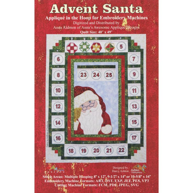 Advent Santa Machine Embroidery Designs Pattern