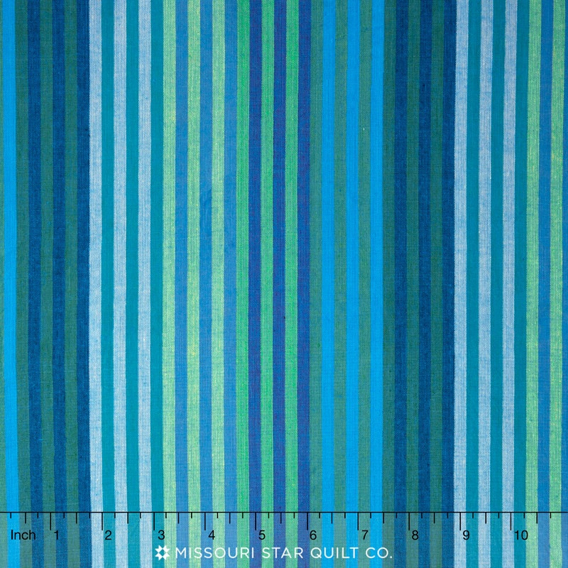 Kaffe Wovens - Caterpillar Stripe Blue Yardage