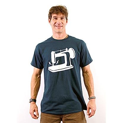 Man Sewing Midnight Blue X-Large T-Shirt