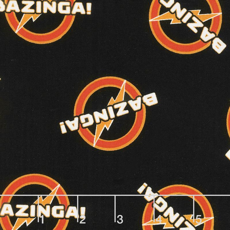 The Big Bang Theory - Bazinga in Black Yardage