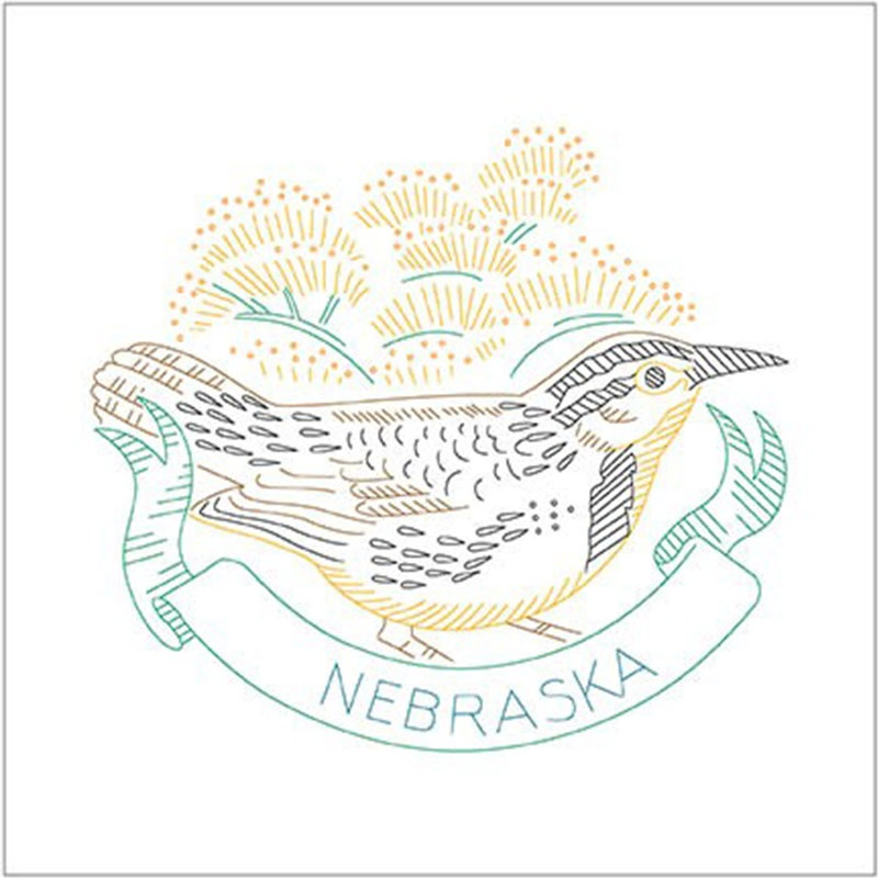 Birds of Liberty - Nebraska Digitally Printed Panel