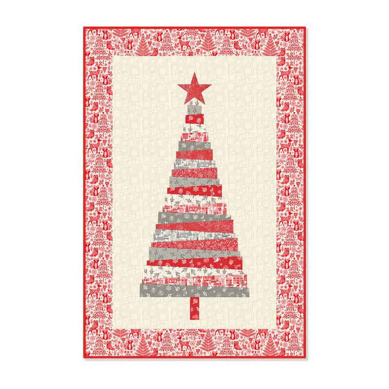 Scandi Christmas Tree Kit Lynn Goldsworthy Andover Fabric
