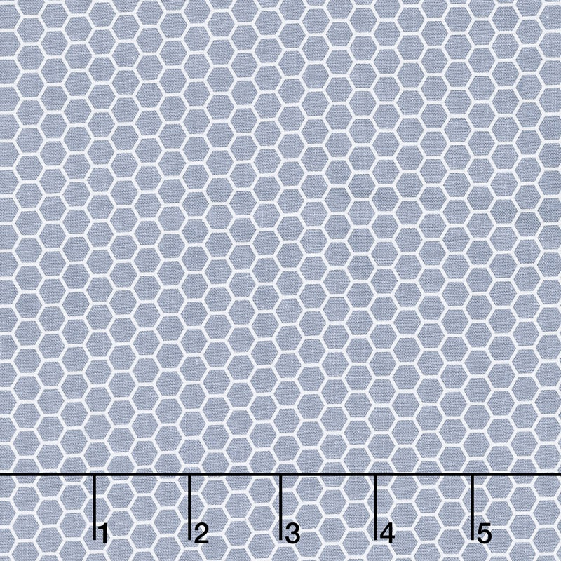 Bumble Bumble - Honeycomb Silhouette Grey Yardage