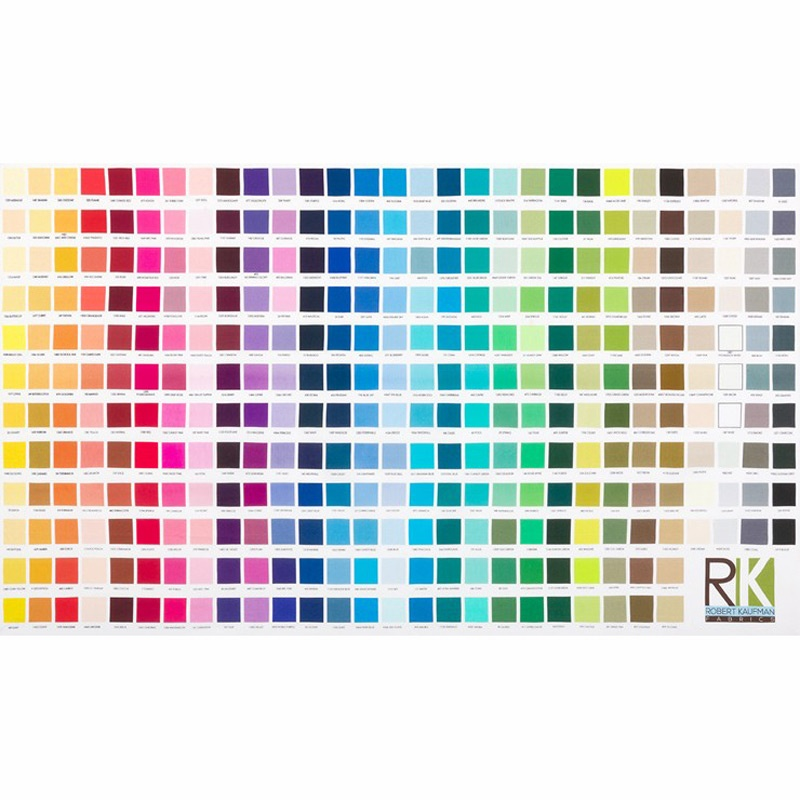 Kona Cotton Solids - Color Chart Panel