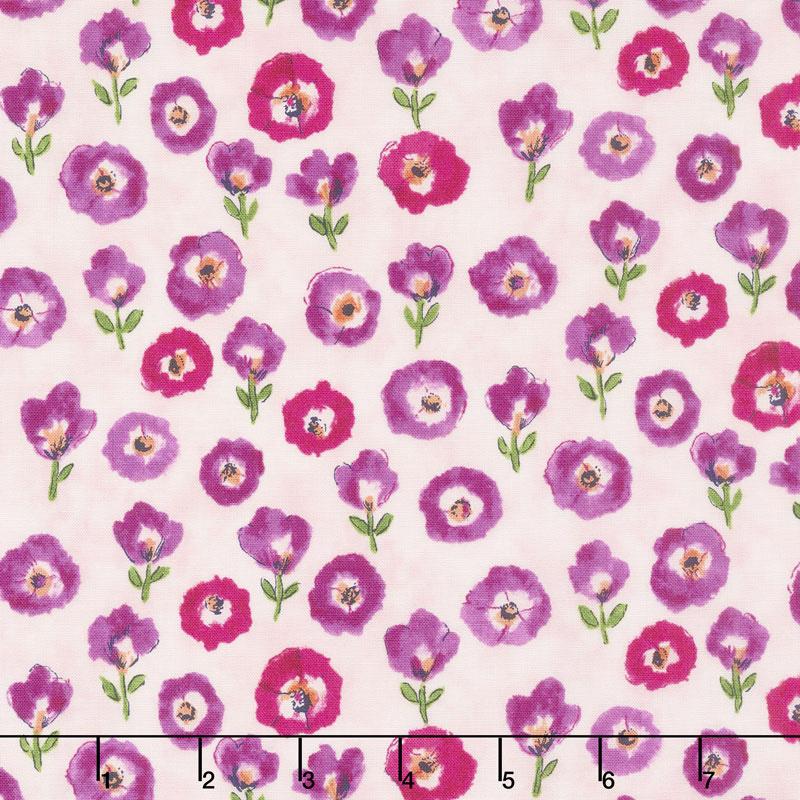 Petal Park - Fresh Cut Floral Sweet Pea Fabric Yardage