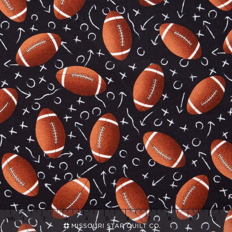 Sports - Footballs Black Yardage