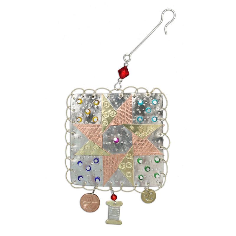 Quilt Star Sampler Ornament