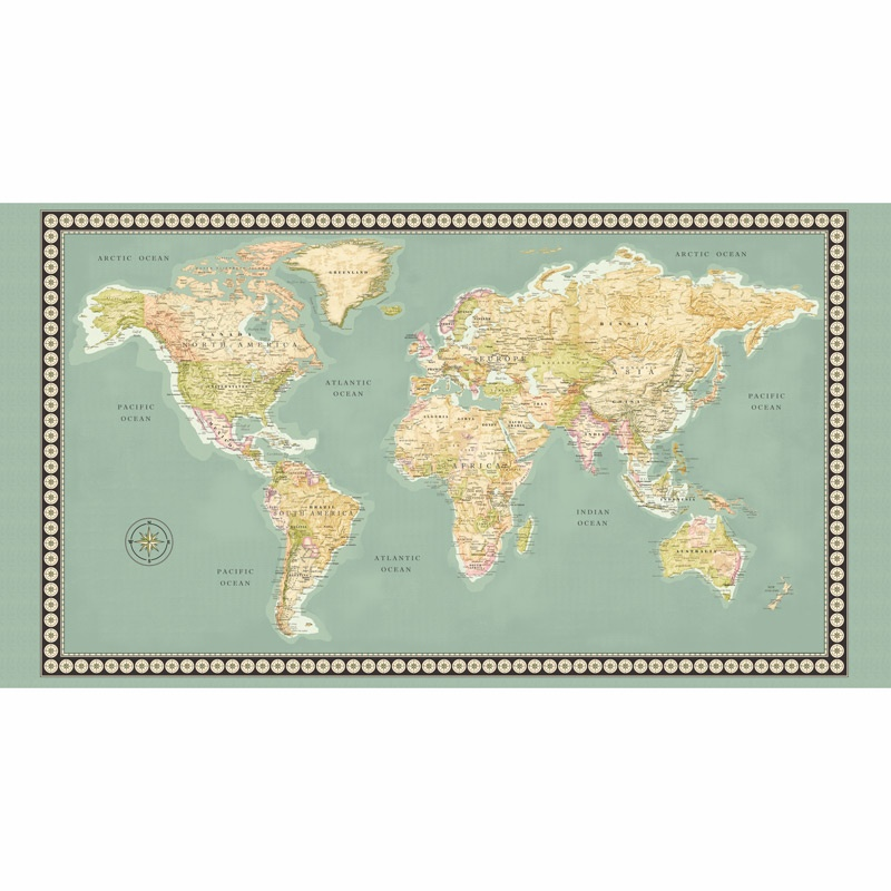 meridian world map multi panel
