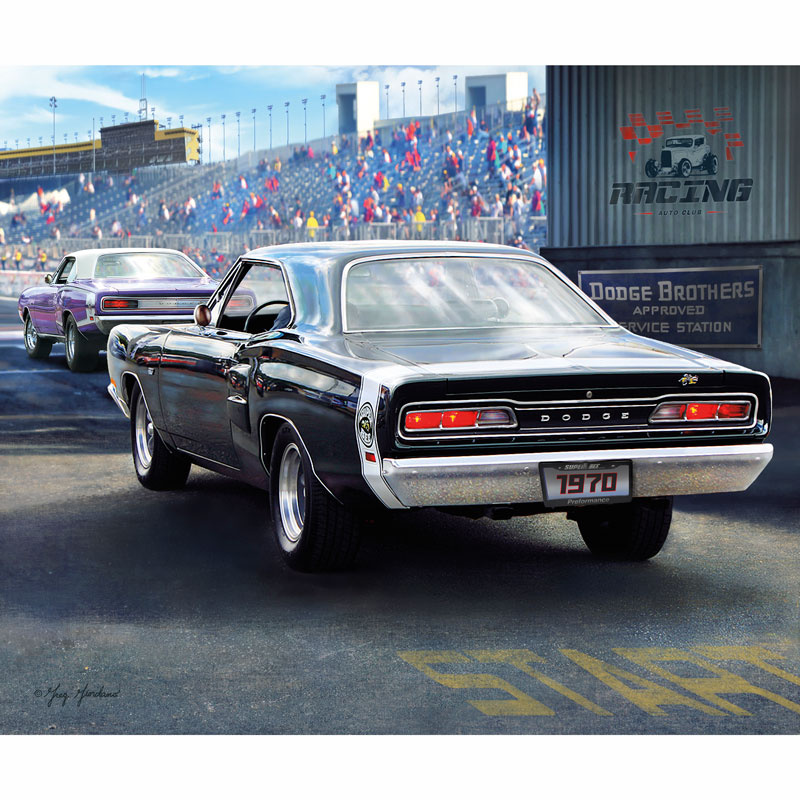 Dodge Muscle Cars - Dodge 1970 Super Bee Digitally Printed Panel ...