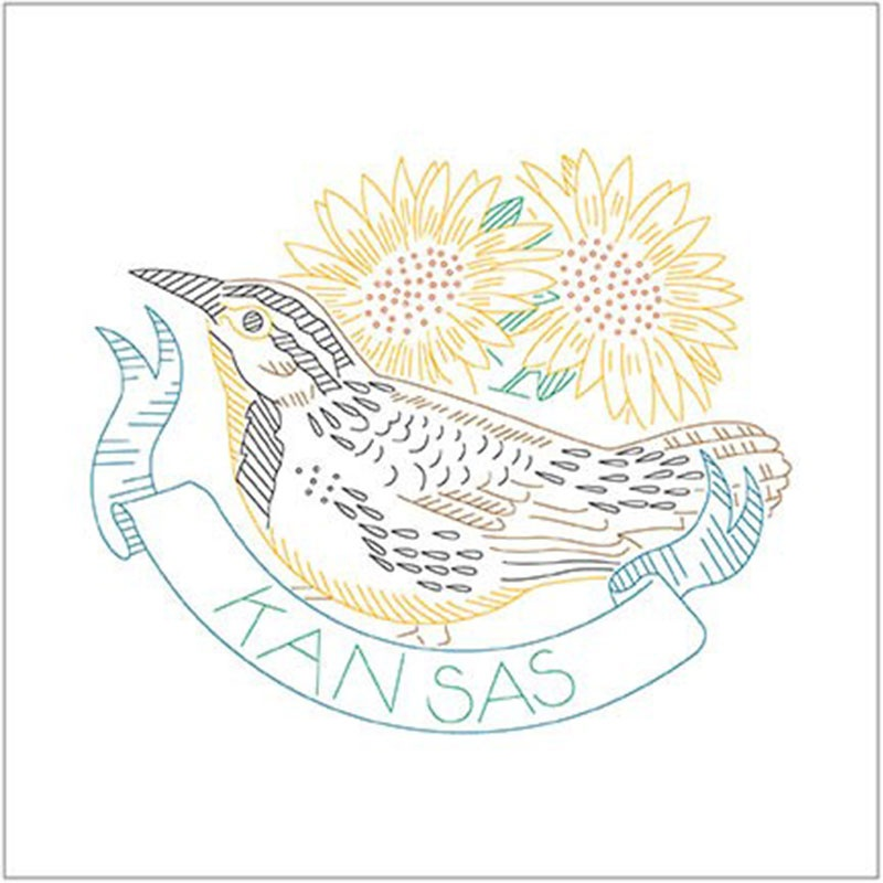 Birds of Liberty - Kansas Digitally Printed Panel