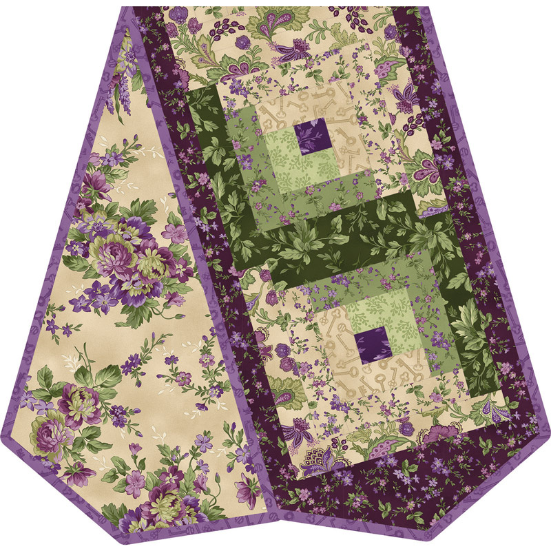 Aubergine Log Cabin Table Runner POD Kit
