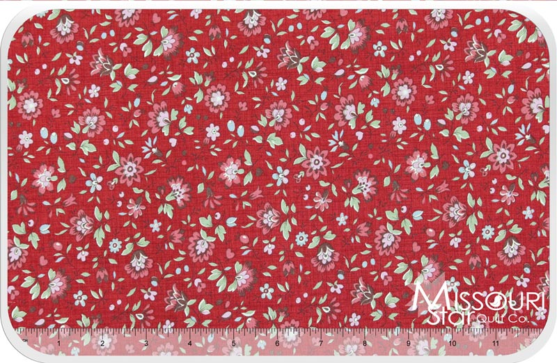 La Belle Fleur Rouge Yardage French General Moda Fabrics