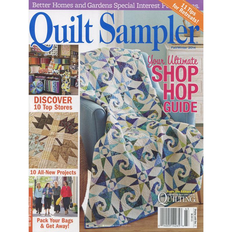 Better Homes Gardens Quilt Sampler Magazine Fall