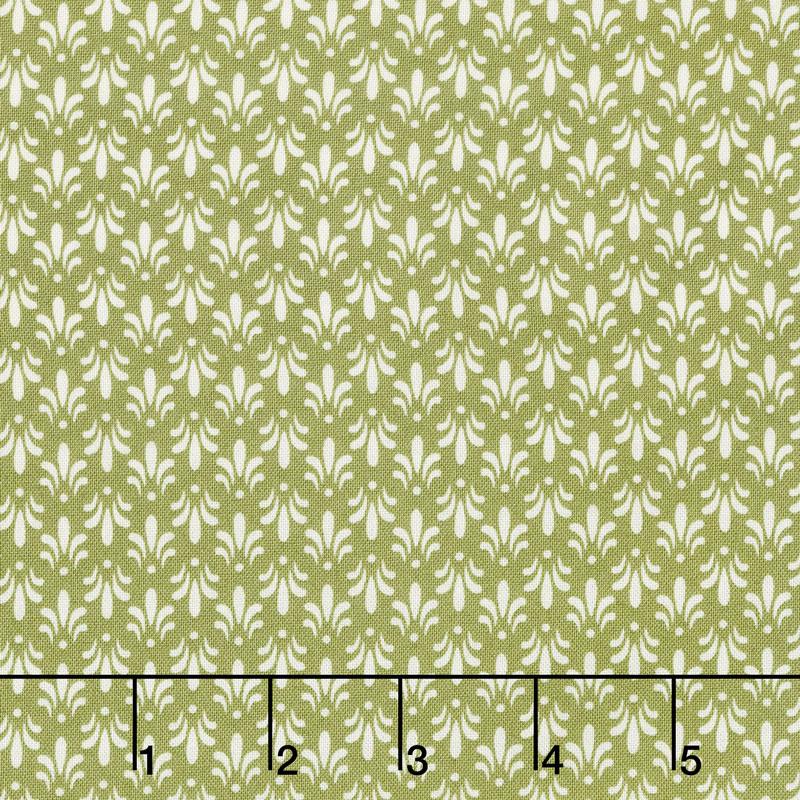 Sensibility - Fleur de lis Green Yardage
