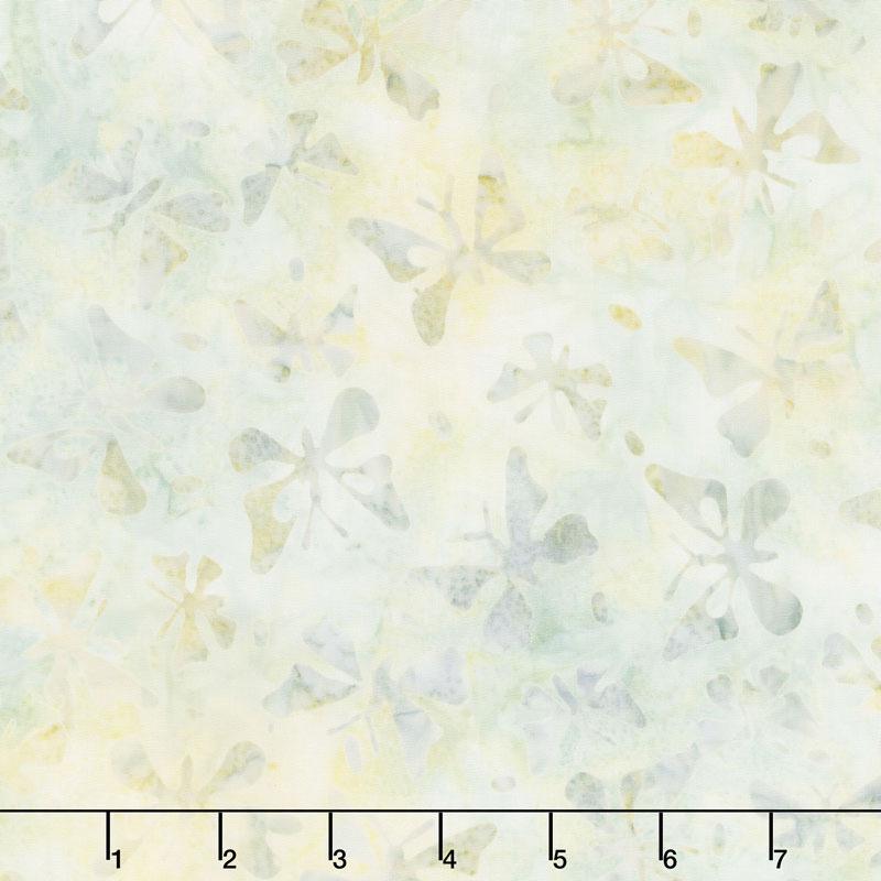 Queen Bee Batiks - Butterflies Light Tan Yardage