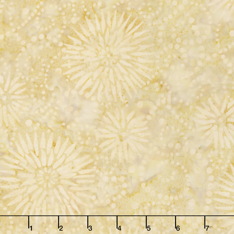 Ivy League Batiks - Flower Burst Tan Yardage