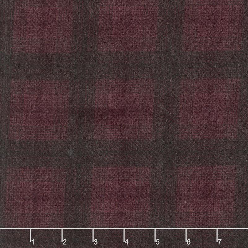 Wool & Needle Flannels V - Big Bang Plaid Wine Yardage