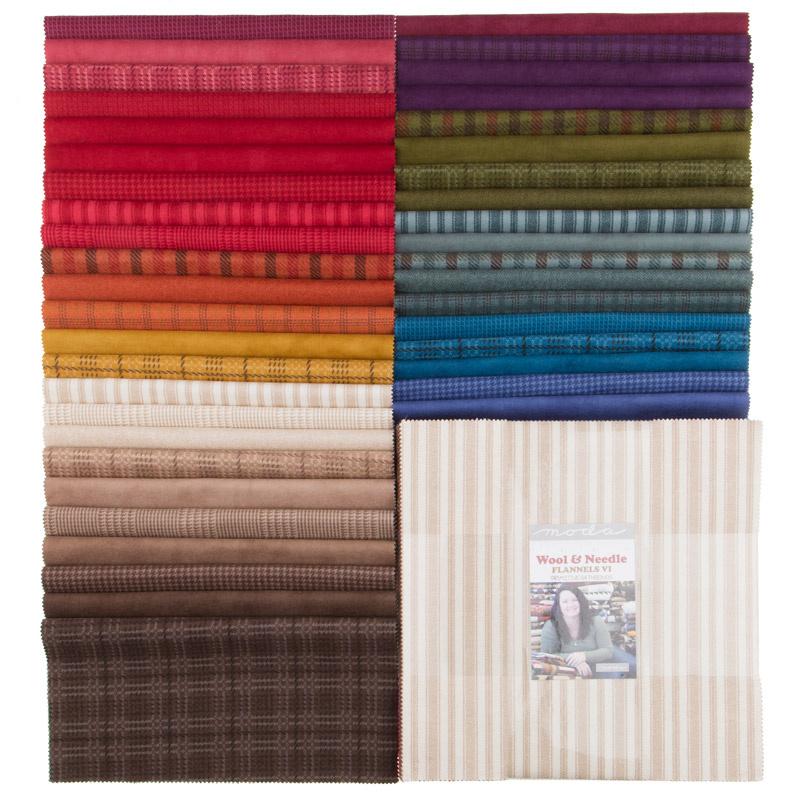 Wool & Needle Flannels VI Layer Cake