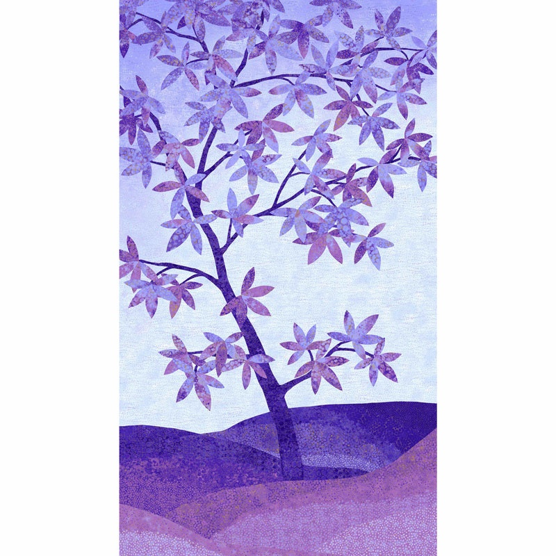 Artisan Spirit - Shimmer Echoes Pansy and Mineral Tree Pansy Metallic Panel