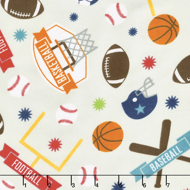 Game Day - Sports Main Gray Flannel Yardage