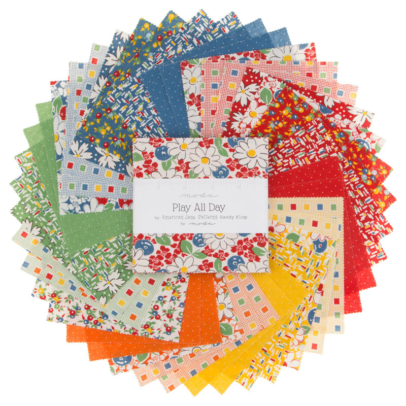 Play All Day Charm Pack American Jane Moda Fabrics