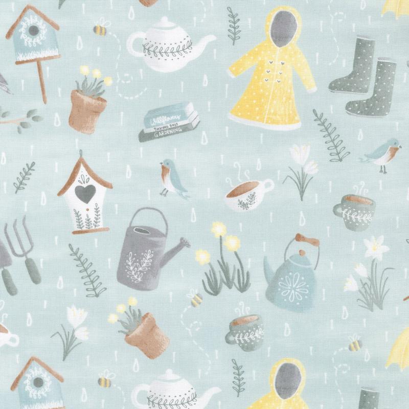 Smitten with Spring - Spring Showers Aqua Yardage - Whistler Studios ...