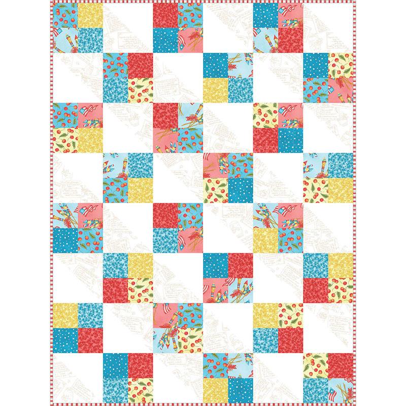 Back Porch Celebration Four Square Quilt POD Kit